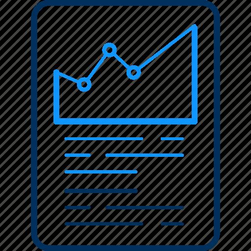 graph, sheet icon