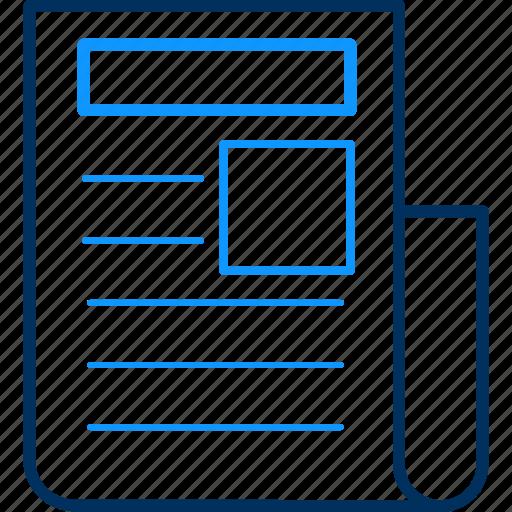 sheet, text icon
