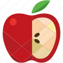 apple, design, food, fruit, healthy, nutrition, red icon