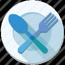dish, eat, food, fork, menu, plate, restaurant