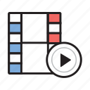 film, movie, multimedia, play, video icon