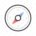 compass, direction, location, navigate icon