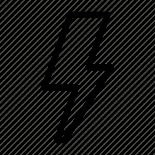 electricity, energy, lightning, lightning bolt, power, rain, storm icon