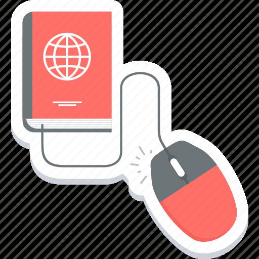 click, cursor, global, harddisc, mouse, online, web icon