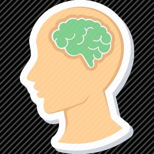 brain, creative, head, idea, lamp, light, mind, thinking icon