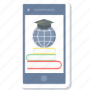 book, ebook, education, elearning, learning, mobile, university icon