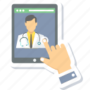 app, communication, contact, device, doctor, mobile, phone icon