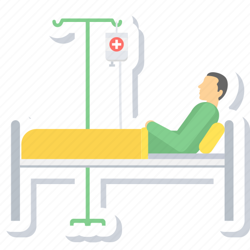 bed, care, emergency, healthcare, hospital, patient, rest icon