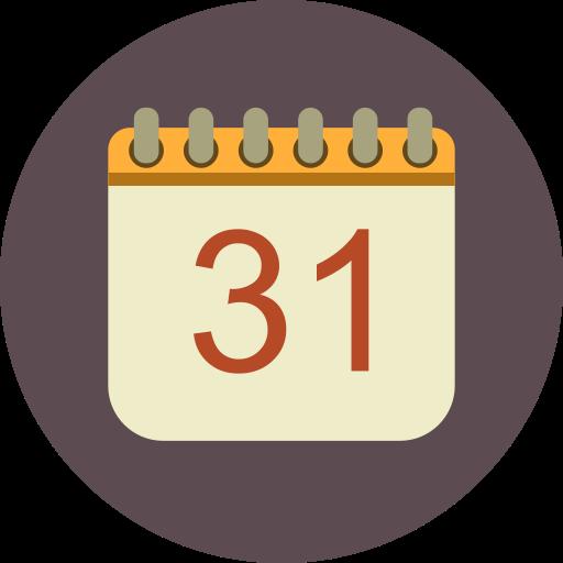calendar, date, day, schedule, table calendar icon