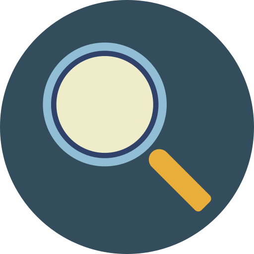 glass, magnifier, search, tool icon