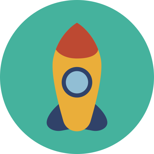 rocket, space icon