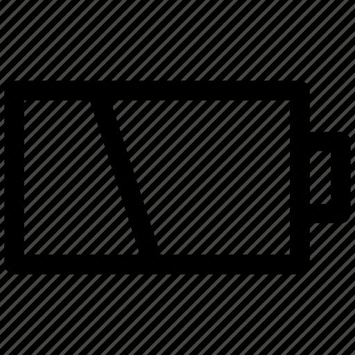 battery, ⦁ empty, ⦁ energy, ⦁ powericon icon