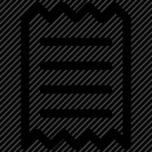 Bill, ⦁ invoiceicon icon - Download on Iconfinder