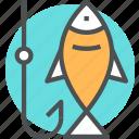fish, fishing, hobby, refreshing, sea icon