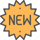 label, new, product, shop, sticker, tag icon