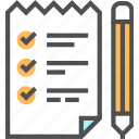 checklist, data, document, list, shopping list icon