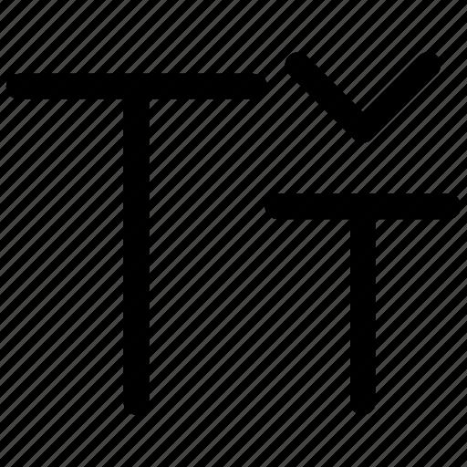 document, ⦁ font, ⦁ size, ⦁ smaller, ⦁ texticon icon