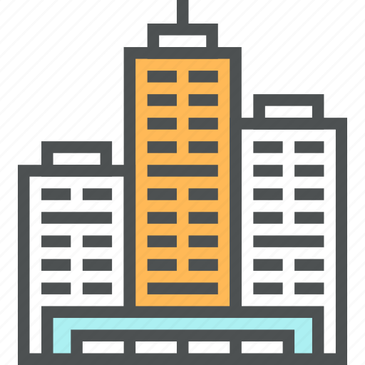 building, business, office, skyscrapers icon