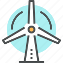 ecology, energy, wind, wind turbine, windmill icon