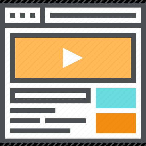 media, movie, multimedia, video, video service icon