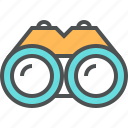 binocular, find, look, magnifying, vision icon