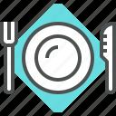 fork, knife, plate, tool