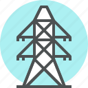 ecology, electricity, energy, power, power plant icon