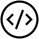 code, ⦁ development, ⦁ web iconicon icon