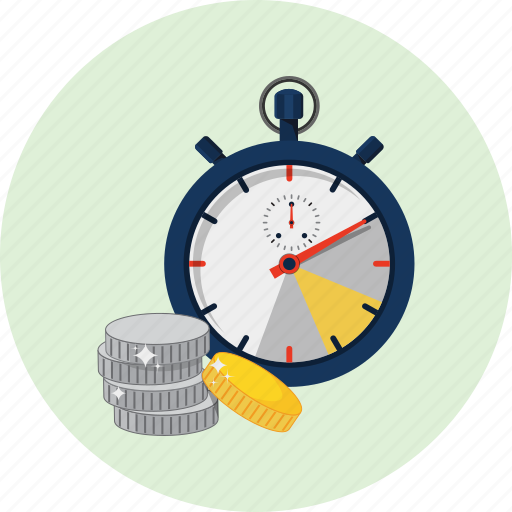 achievement, banking, business, capital, chronometer, coin, investment icon