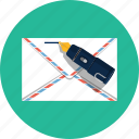 communication, correspondence, envelope, mail, message, write icon