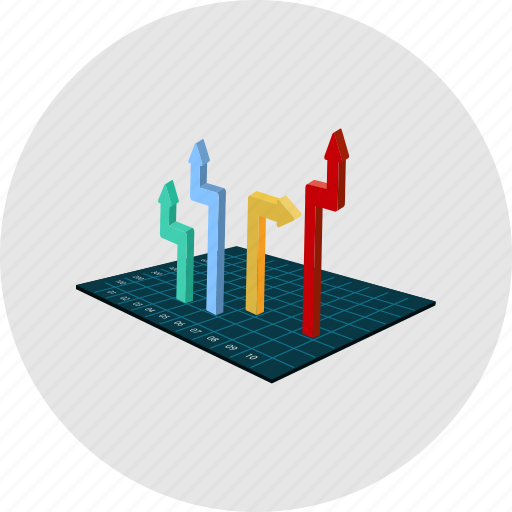graph, investment, market, profit, risk, statistic, stock icon