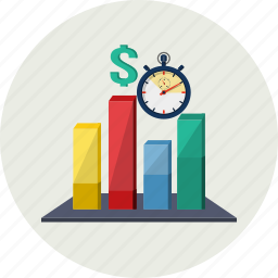 analysis, banking, business, chart, investment, market, money icon