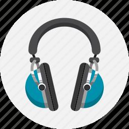 audio, headphones, media, music, protection icon
