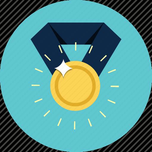 award, medal, prize, reward, success, victory, winner icon
