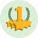 award, badge, best, champion, first, laurel, leader icon