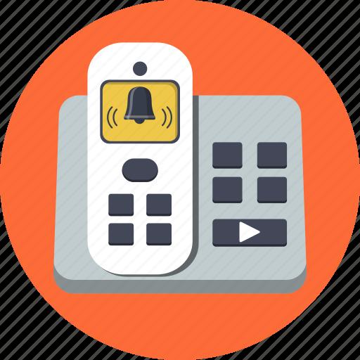 alert, analog, cordless, telecommunication, telephone, wireless icon
