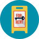 agent, billboard, location, outdoors, pointer, rent icon