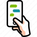 chat, conversation, dialog, group, messaging, sms, talk icon
