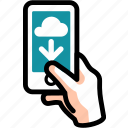 cloud, download, import, save, storage icon