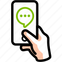 chat, comment, feedback, message, send, sms, talk icon