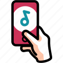 entertainment, listen, mobile, music, song icon