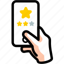 excellent, like, rate, service, star icon