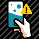 damage, error, liquid, warning, water, waterlog icon