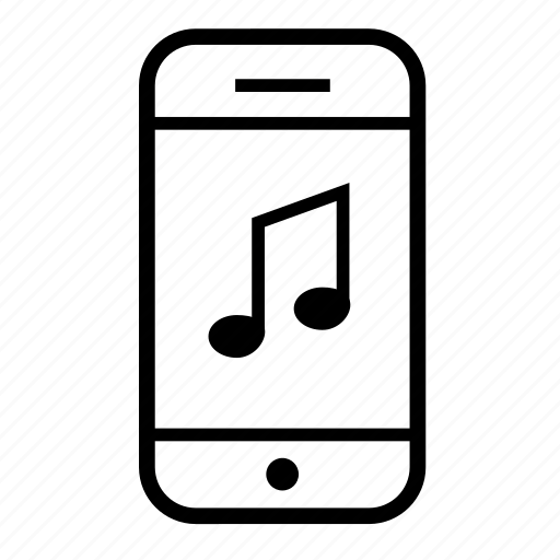 cell phone, mobile, mobile phone, music, phone icon