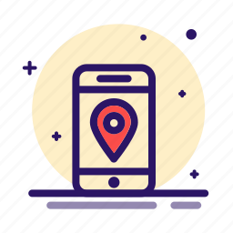 gps, location, mobile, phone, place, point, position icon