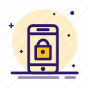 lock, mobile, phone, secure, security icon