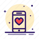 love, loving, mobile, phone, romance icon