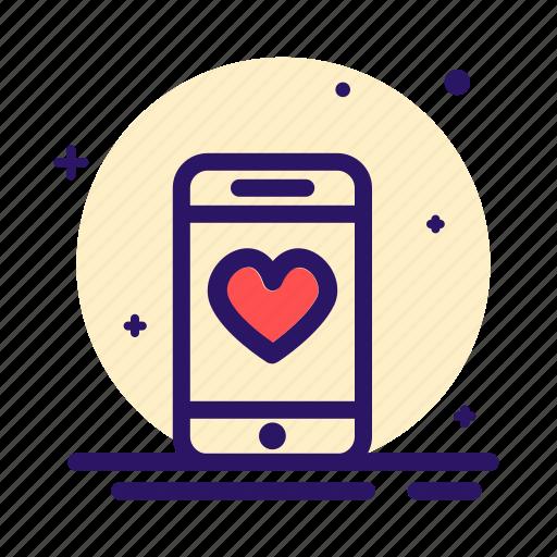 love, loving, mobile, phone, romance icon