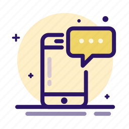 chat, message, messaging, mobile, phone, text icon