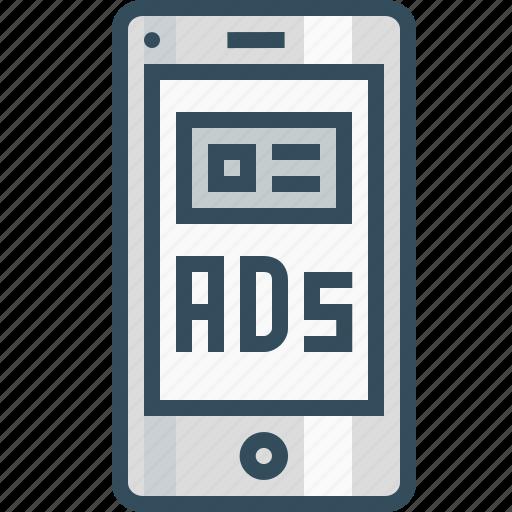 advertising, commercial, companionads, discriptive, imagebasedad, marketing, mobileads icon